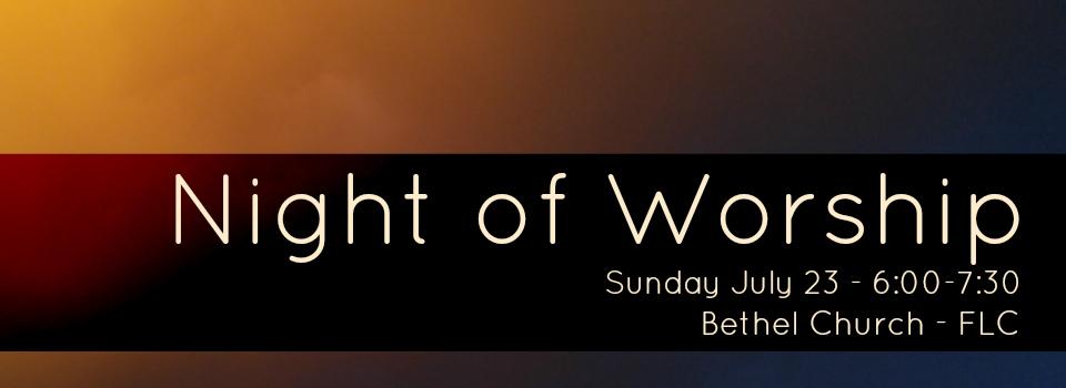 Night of Worship Banner