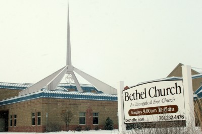 Bethel Church in the Snow
